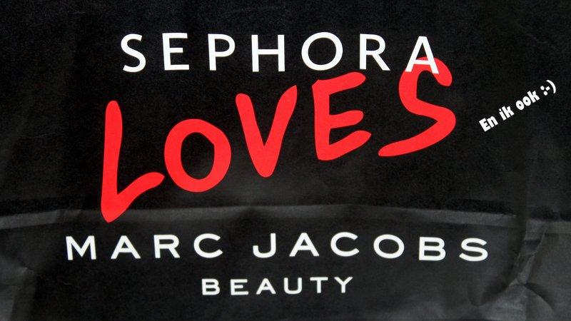 Maar ik ben waarschijnlijk nog het meeste blij met mijn Sephora ♥ Marc Jacobs zak :-)