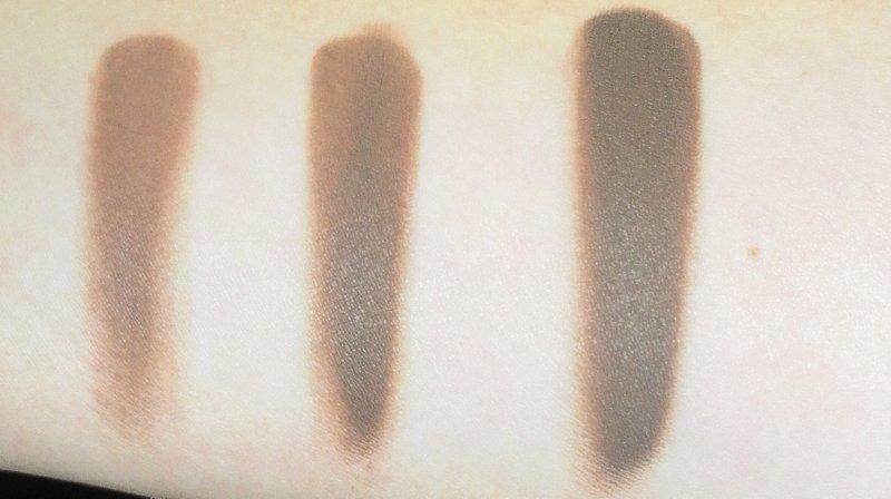 Van links naar rechts: 1 laag droog - 1 laag nat - 3 lagen droog