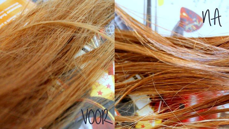 Het verschil is best wel duidelijk, denk ik. En het is heel moeilijk om je eigen haar te fotograferen :-)