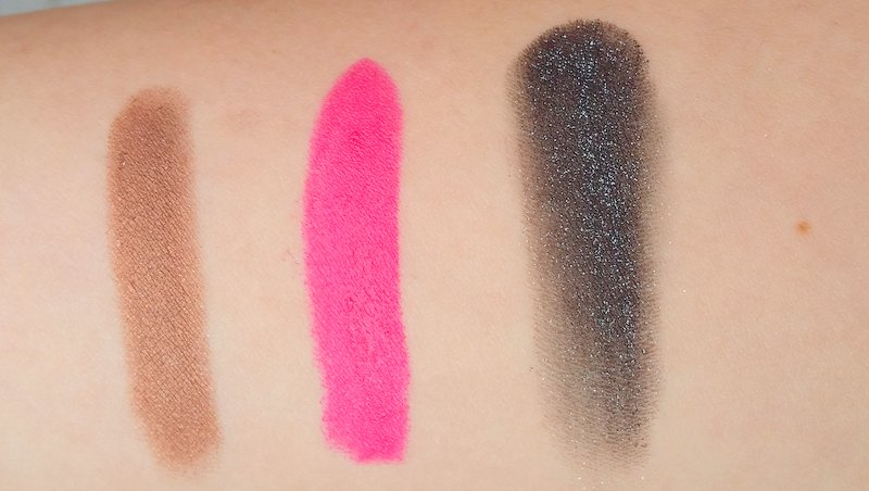 Clinique Chubby Stick Fuller Fudge - MAC Lipstick Girl About Town - Chanel Illusion d'Ombre Mirifique