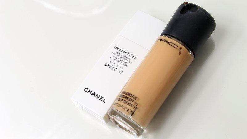 MAC foundations zijn monsters in vergelijking met Chanel UV Essentiel.