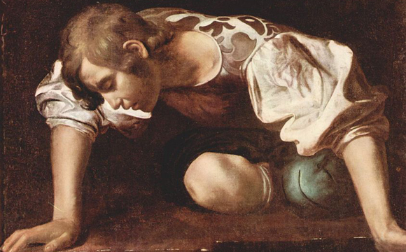 Narcissus volgens onze vriend Caravaggio.