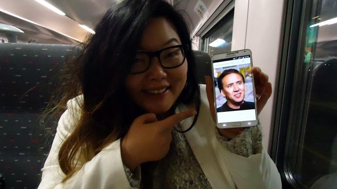 En Nicolas zat ook op de trein :)